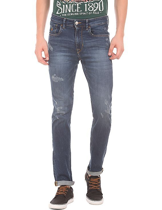 be05f05370 Buy Men Skinny Fit Lightly Distressed Jeans online at NNNOW.com