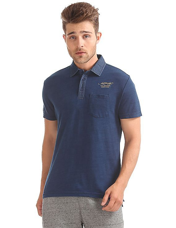4578bae43d Buy Men Slim Fit Slub Polo Shirt online at NNNOW.com