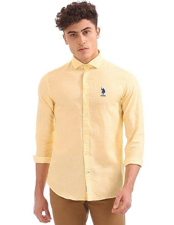 5894500a83b Buy Men Floral Print Cotton Linen Shirt online at NNNOW.com