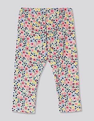 GAP Grey Baby Print Leggings In Stretch Jersey