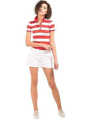 Nautica Pique Striped Polo Shirt