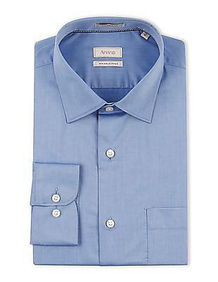 Arvind Regular Fit Wrinkle Free Shirt