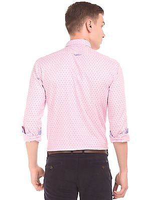 Arrow Sports Geometric Printed Slim Fit Shirt
