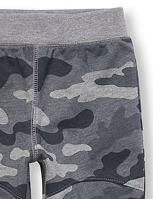The Children's Place Toddler Boy Grey Active Camo Print Jogger Pants