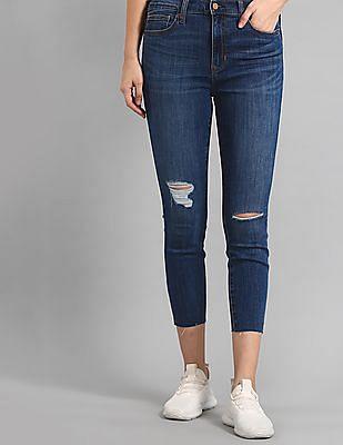 GAP Blue Super Skinny Fit High Waist Jeans