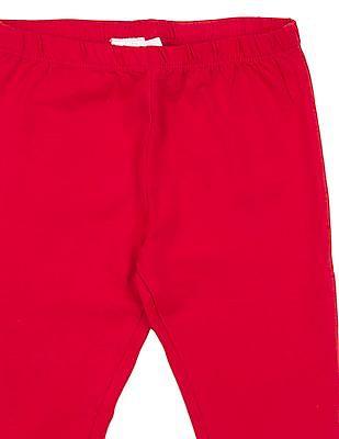 Cherokee Girls Solid Cotton Elastane Leggings