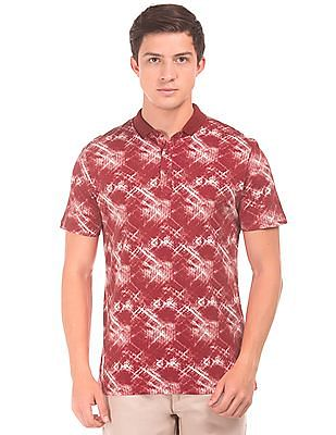 Roots by Ruggers Printed Regular Fit Polo Shirt