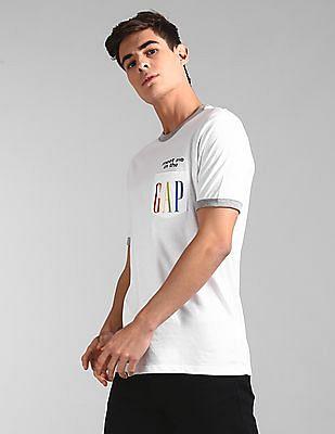 GAP White Pride Ringer Pocket T-Shirt
