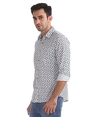 U.S. Polo Assn. Denim Co. Slim Fit Printed Shirt