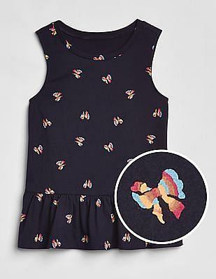 GAP Girls Print Peplum Tank Top