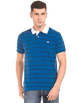 Aeropostale Regular Fit Striped Polo Shirt