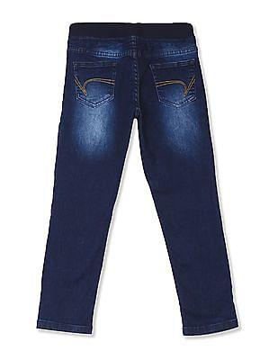Cherokee Blue Boys Slim Fit Drawstring Waist Jeans