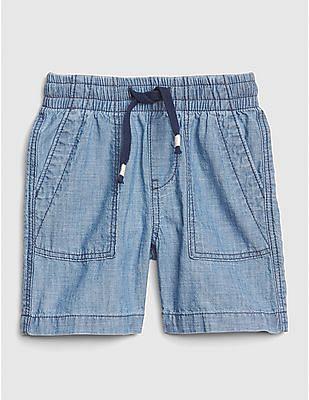 GAP Toddler Boy Pull-On Chambray Utility Shorts