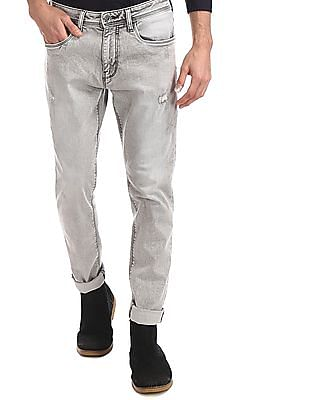 Ed Hardy Grey Dagger Slim Fit Washed Jeans