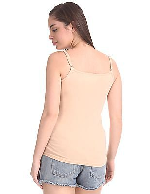 Unlimited Solid Round Neck Camisole