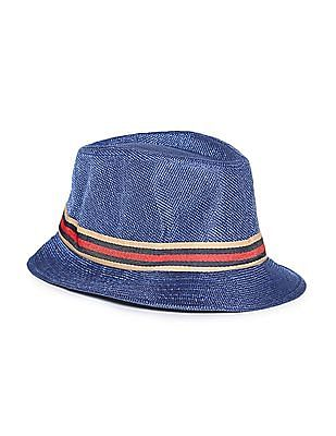 Day 2 Day Boys Striped Trim Fedora Hat