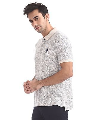 U.S. Polo Assn. Regular Fit Floral Print Polo Shirt