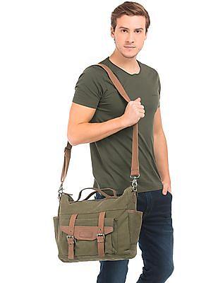 U.S. Polo Assn. Canvas Laptop Messenger Bag