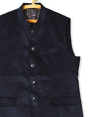 Arrow Body Tailored Regular Fit Nehru Jacket