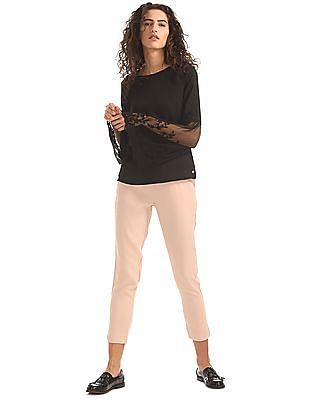 Elle Solid Woven Pants