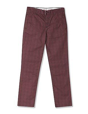 U.S. Polo Assn. Kids Boys Check Cotton Trousers