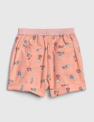 GAP Baby Print Metallic Pull-On Shorts