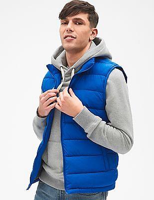 GAP Men Blue Warmest Puffer Vest