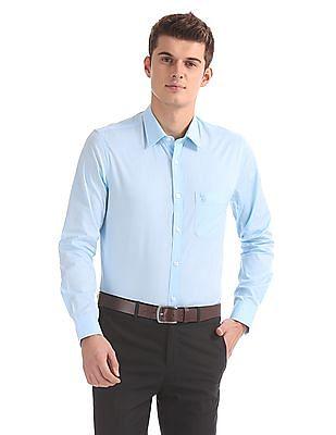 USPA Tailored Regular Fit Patterned Shirt