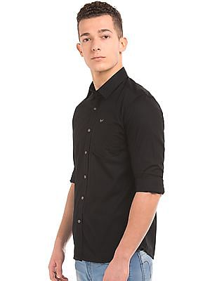 Flying Machine Solid Slim Fit Shirt