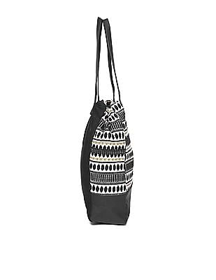 SUGR Patterned Weave Cotton Tote Bag