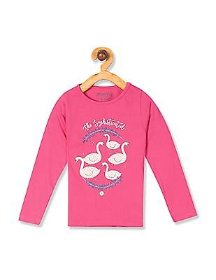 7cd52da8 Buy Girls 277812280 Fuchsia Girls T-Shirt online at NNNOW.com