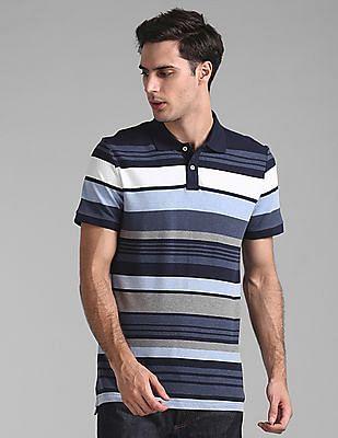 GAP Striped Pique Polo Shirt