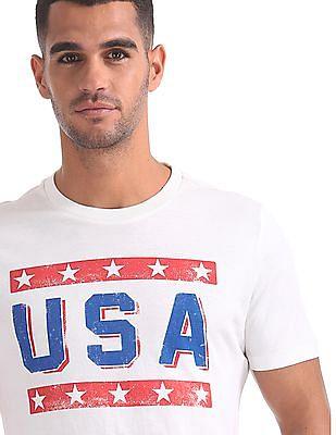 Aeropostale Round Neck Graphic T-Shirt