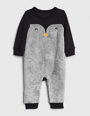 GAP Baby Critter Faux-Fur One-Piece