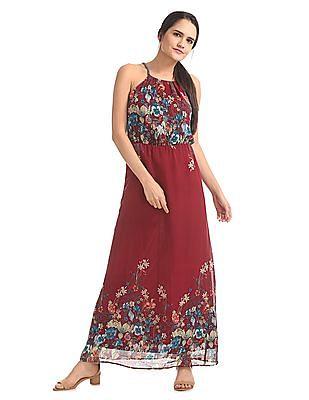U.S. Polo Assn. Women Floral Print Maxi Dress