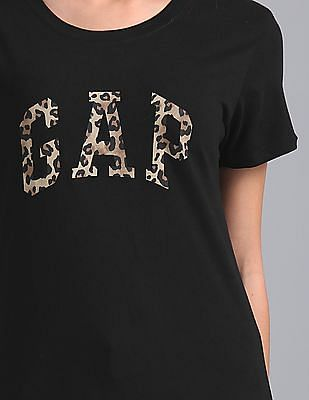 GAP Short Sleeve Leopard Logo Tee