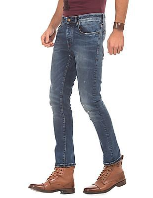 Ed Hardy Distressed Slim Fit Jeans