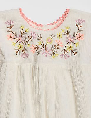 GAP Baby Embroidered Crinkle Top