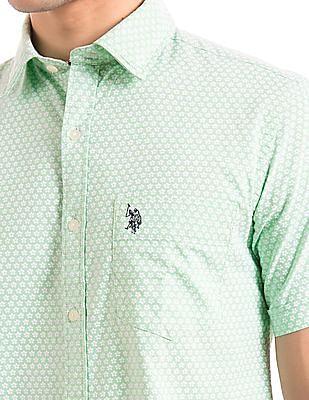 U.S. Polo Assn. Floral Print Oxford Shirt
