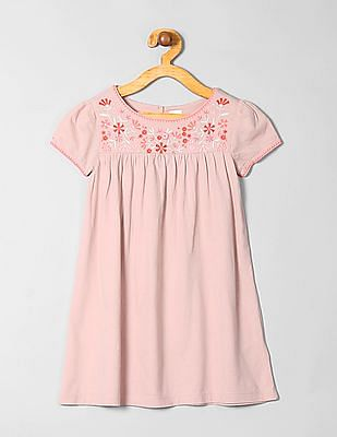 GAP Girls Embroidered Shift Dress