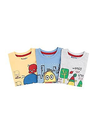 Donuts Boys Printed T-Shirt Set - Pack Of 3