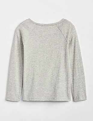GAP Baby Round Neck Embellished Top