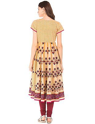 Anahi Combination Print Anarkali Kurta