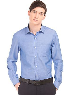 Arrow Textured Slim Fit Shirt