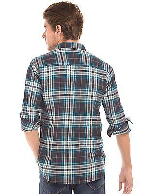 Flying Machine Slim Fit Plaid Shirt
