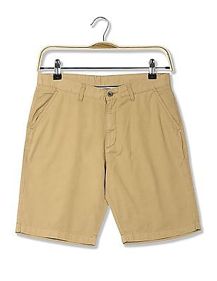Arrow Sports Regular Fit Solid Chino Shorts