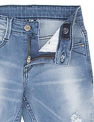 FM Boys Boys Distressed Skinny Fit Jeans
