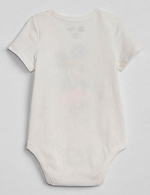 GAP Baby White Disney Mickey Mouse Bodysuit