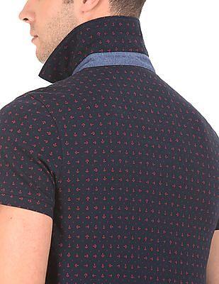 Nautica Classic Fit Printed Polo Shirt