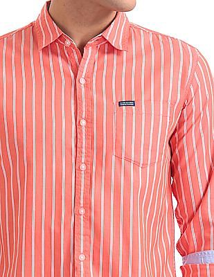 Flying Machine Standard Fit Striped Shirt